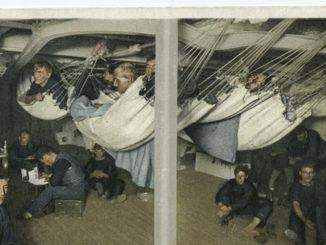 Die Geschichte der Hängematte: Hängematten unter Deck eines Schiffes