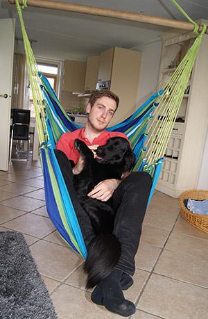 HOBEA Hängesessel mit Hund
