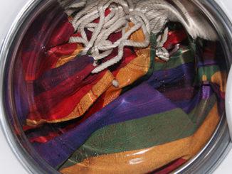 Hängesessel in der Waschmaschine