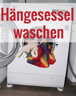 h ngesessel waschen trocknen und pflegen eine anleitung. Black Bedroom Furniture Sets. Home Design Ideas