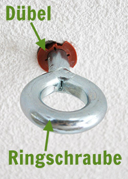 Ringhaken in der Betondecke