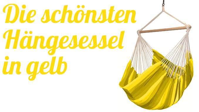 Die schönsten Hängesessel in gelb