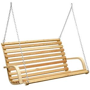 Hängeschaukel aus Holz, auch bezeichnet als Hängebank