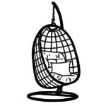 Hängesessel Rattan Symbol